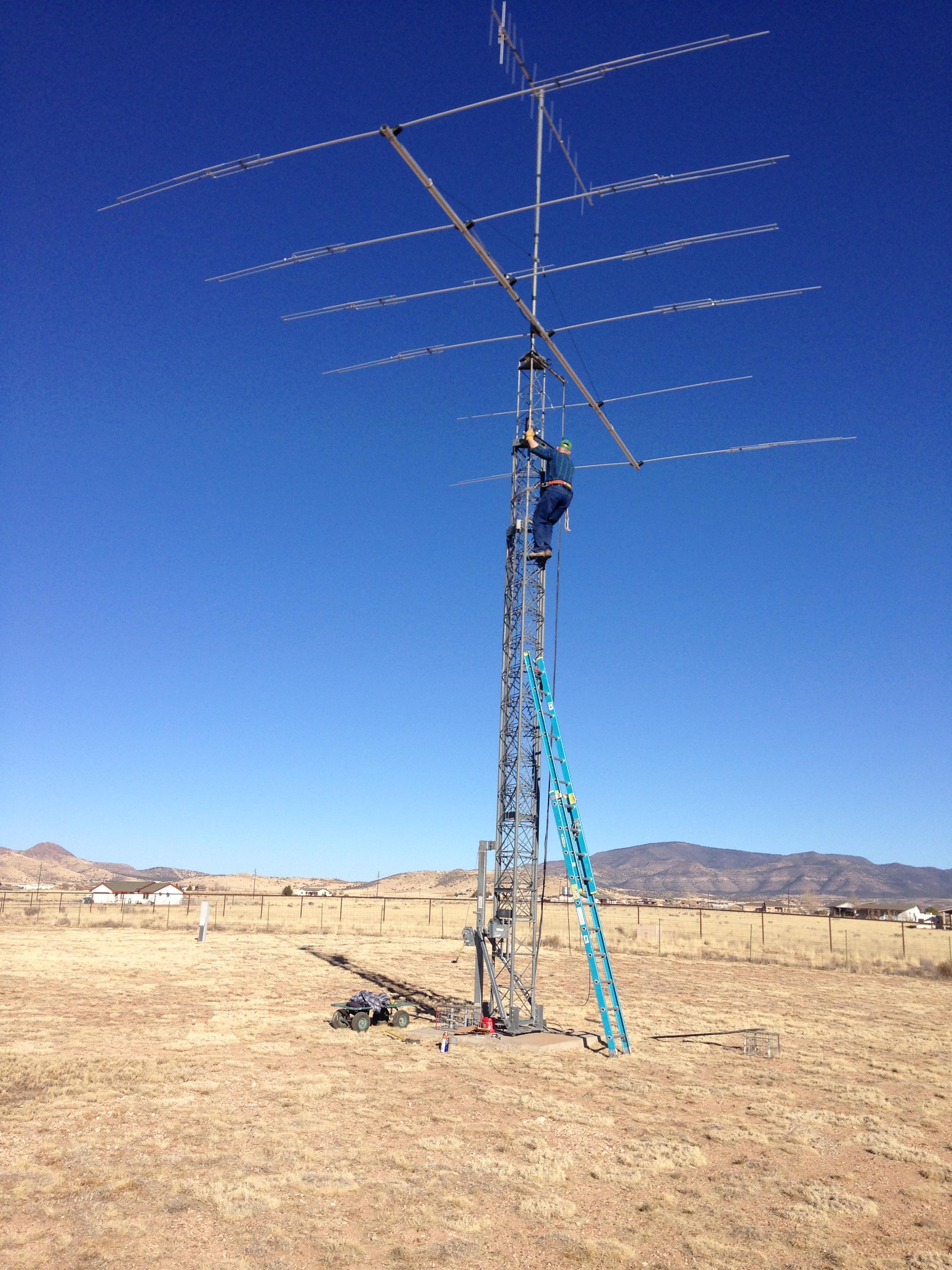 K7SEN prepping tower for lowering